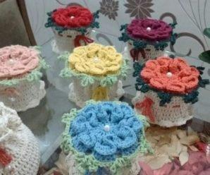 Peso de Porta em Crochê Flor Passo a Passo